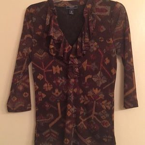 Gorgeous Earth Tone Colors Blouse by Chaps